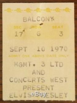 Elvis Presley-1970 RARE Concert Ticket Stub (St. Louis-Kiel Auditorium)