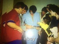 Elvis Presley 1970s Autograph On A Cut From A Las Vegas Hilton Menu! RARE