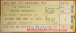 Elvis Presley-1971 RARE Concert Ticket Stub (Cincinnati Gardens)