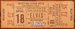 Elvis Presley-1972 RARE Unused Concert Ticket (San Antonio-Convention Center)