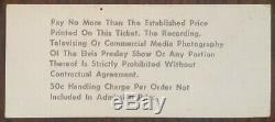 Elvis Presley-1975 RARE Unused Concert Ticket (Tampa-Curtis Hixon Hall)
