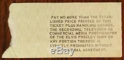 Elvis Presley-1977 RARE Concert Ticket Stub (Indianapolis-Last Ever Concert)