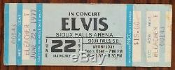 Elvis Presley-1977 RARE Unused Concert Ticket (Sioux Falls Arena-South Dakota)