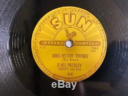 Elvis Presley 78 Sun 210 Good Rockin' Tonight Rockabilly RARE Nice HEAR
