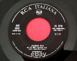 Elvis Presley (7 Italy) 45n 0616 Treat Me Nice Skyline Cover (rare 1000 Copy)