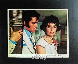Elvis Presley 8 RARE Original Color Movie Lobby Cards Set Trouble With Girls Lot