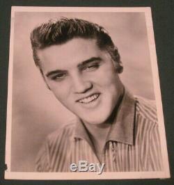 Elvis Presley 9 x 7 B/W Agency Publicity Photo 1956 RARE Original