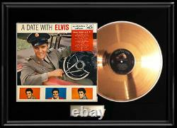 Elvis Presley A Date With Elvis Gold Metalized Record Lpm 2011 Rare Non Riaa