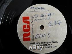 Elvis Presley Acetate My Way Live Version On Rca- Rare