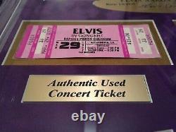 Elvis Presley Authentic Tickets Collage Framed Facsimilie Autograph Rare #D/25