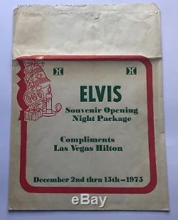 Elvis Presley- Awesome And Rare Complimentary Hilton Souvenir Bag