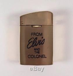Elvis Presley BIG 50 Lighter Colonel Tom Parker Rare Unused Flawless Condition