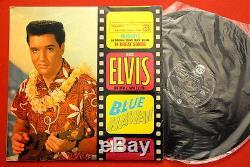 Elvis Presley Blue Hawaii 1962 Rare Exyu Lp Unique Backcover Heavy Vinyl Ex-/ex+