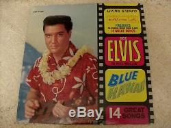 Elvis Presley Blue Hawaii 1963 Rca Lsp-2426 Mega Rare'stereo' Label $750 Bk