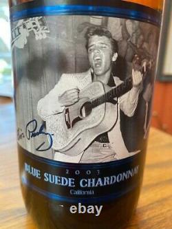 Elvis Presley Blue Suede Chardonnay Wine 2003 Unopened Rare pristine labels