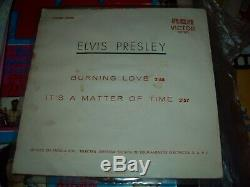 Elvis Presley Burning Love, Angola (africa) 7'' Very Rare Rca