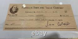Elvis Presley Business Card with Esposito Signed Check Graceland- RARE Collection