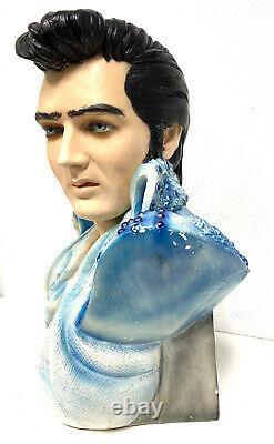 Elvis Presley Bust Rare Blue Jacket life size Vintage 1970s