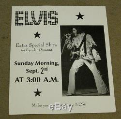 Elvis Presley By Popular Demand Extra Special Show Oversize Poster 16 x 19 RARE