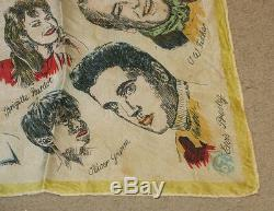 Elvis Presley Celebrity Handkerchief 1950's Silk RARE Bardot Dean