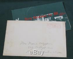 Elvis Presley Christmas Card With Graceland Envelope 1950's Original Green RARE