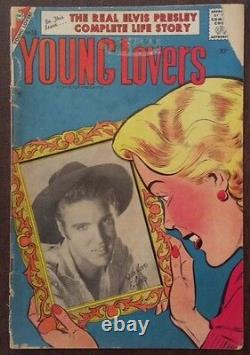 Elvis Presley Comic Book Young Lovers, #18 1956 Rare