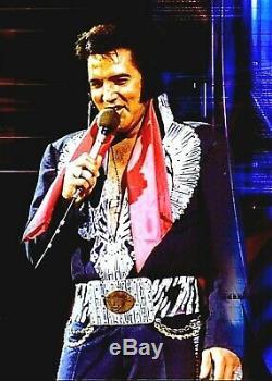 Elvis Presley Concert Scarf Dual Autograph Signature Las Vegas Collectible RARE