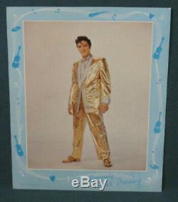 Elvis Presley EPE 8 x 10 Publicity Portrait Photo Gold Lame Original 1957 RARE