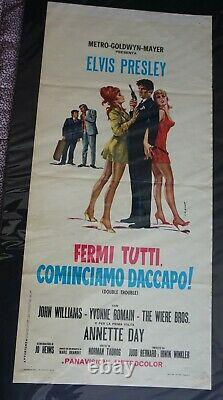 Elvis Presley Elvis Presley Double Trouble Rare Italian Film Poster