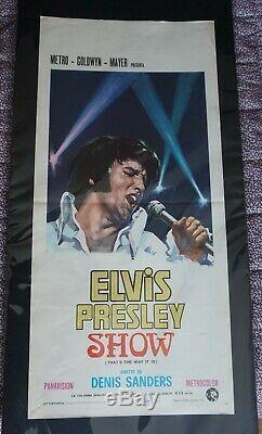 Elvis Presley Elvis Presley Show Rare Italian Original Film Poster