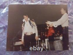 Elvis Presley Elvis&tom Jones Candid Rare Original On Stage Las Vegas Photo 1973