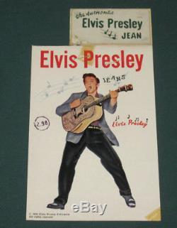 Elvis Presley Enterprises EPE Jeans Tag / With Label Copyright 1956 RARE