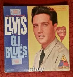 Elvis Presley G. I. Blues with rare Wooden Heart-Sticker LPM-2256