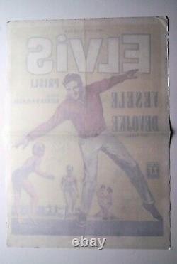 Elvis Presley Girl Happy 1965 Rare Original Exyugo Movie Poster Vesele Devojke