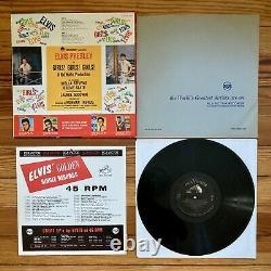 Elvis Presley Girls! Girls! Girls! LP Vinyl OG Mono'62 + Rare 1963 Calendar VG+