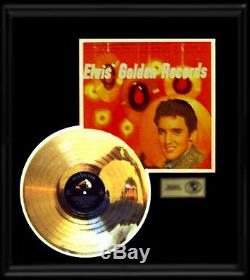 Elvis Presley Gold Record Disc Golden Records Rare 1950's Original Album Frame