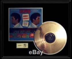 Elvis Presley Gold Record Double Trouble Rare 1960's Disc Lp Frame