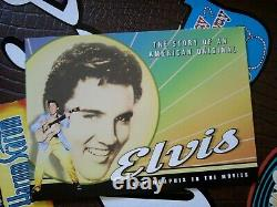 Elvis Presley Guitar Case With Vhs Tapes. Rare Le. Near Mint. Complete. Huge