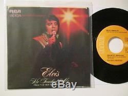 Elvis Presley He Touched Me/Bosom of Abraham Rare Disc Error 45/USA/1972