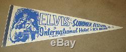 Elvis Presley International Hotel Summer Festival Pennant RARE 1971