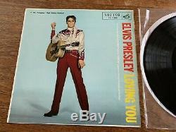 Elvis Presley Japan 1957 LS504 Loving You- LONG PLAY FLIP BACK COVER- RARE EXLNT