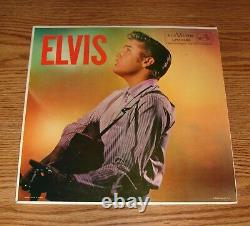 Elvis Presley LPM-1382 Mono MEGA RARE LP & COVER with TEXT ON BACK
