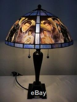 Elvis Presley Lamp Tiffany Style Glass Vintage Rare Gorgeous