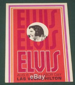Elvis Presley Las Vegas Hilton Hotel Personal Concert Invitation 1973 RARE