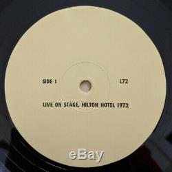 Elvis Presley Live On Stage Hilton Hotel 1972 Vinyl LP Bootleg Unofficial RARE