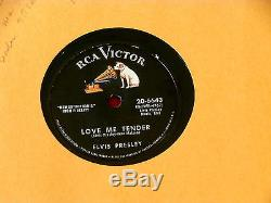 Elvis Presley Love Me Tender Rare Pressing Anyway You Want Me Rca 78