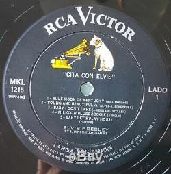 Elvis Presley MKL 1215 Cita Con Elvis LP Ultra Rare Mexico (Date With Elvis)