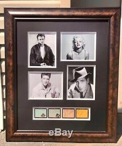 Elvis Presley, Marilyn Monroe, James Dean, Humphrey Bogart Framed Autographs RARE