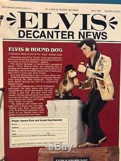 Elvis Presley McCormick Bottle Decanter Hound Dog Large 750ml Empty Very Rare