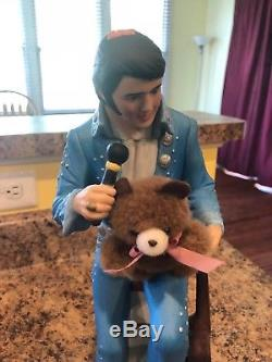 Elvis Presley McCormick Bottle Decanter Teddy Bear Large 750ml Empty Very Rare